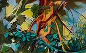 Oil Painting by Paula Martiesian Understory